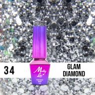 MOLLY LAC QUEENS OF LIFE - ГЕЛ ЛАК №34 - GLAM DIAMOND - 5мл