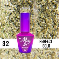 MOLLY LAC QUEENS OF LIFE - ГЕЛ ЛАК №32 - PERFECT GOLD - 10мл