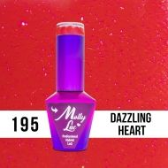 MOLLY LAC HEARTS & KISSES - ГЕЛ ЛАК №195 - DAZZLING HEART - 10мл